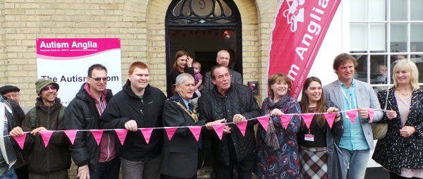 Darts champion Bobby George opens the Autism Room in Sudbury
