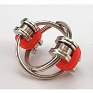Fidget Chain Rings RED